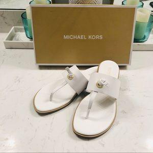 Michael Kors Cindy Sandal Optic White